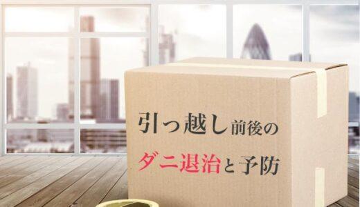 引っ越し前と新居のダニ対策|段ボールのダニ駆除や予防法