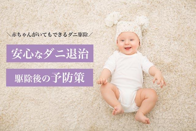 赤ちゃんがいる家庭のダニ退治のやり方