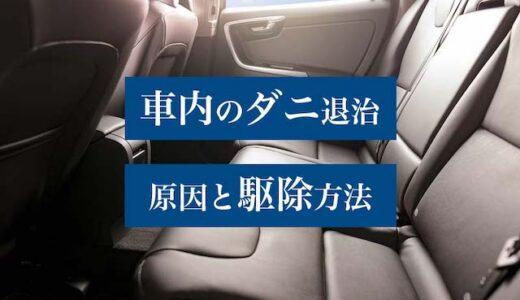 車のシートや車内のダニ対策|発生源や駆除後の効果的な予防法まとめ