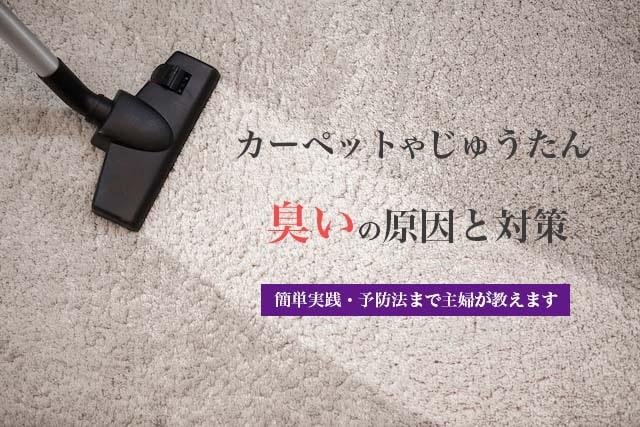 カーペットやじゅうたんの臭いの原因や対策と予防