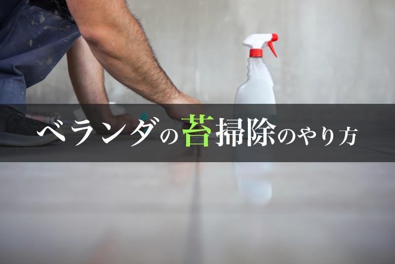 ベランダの苔掃除のやり方