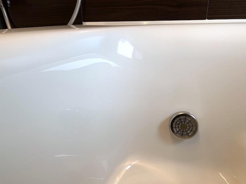 お風呂の浴槽清掃後