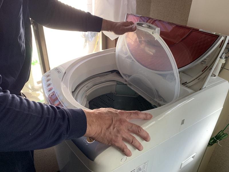洗濯機清掃後の試運転
