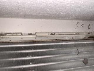 エアコン熱交換器清掃前②