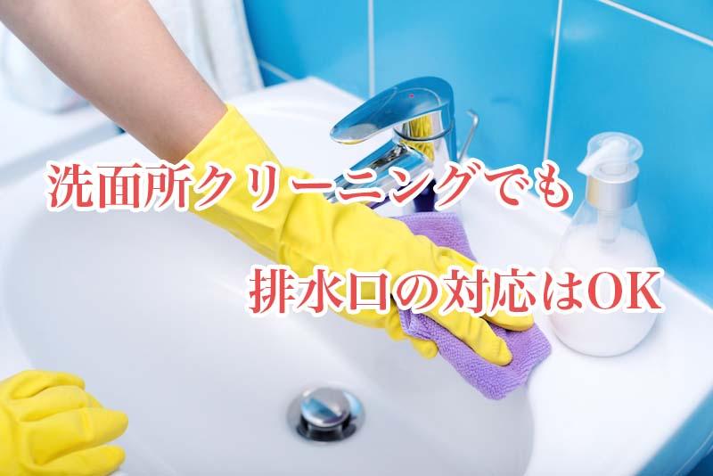 洗面所クリーニングで排水口の掃除をしてもらう