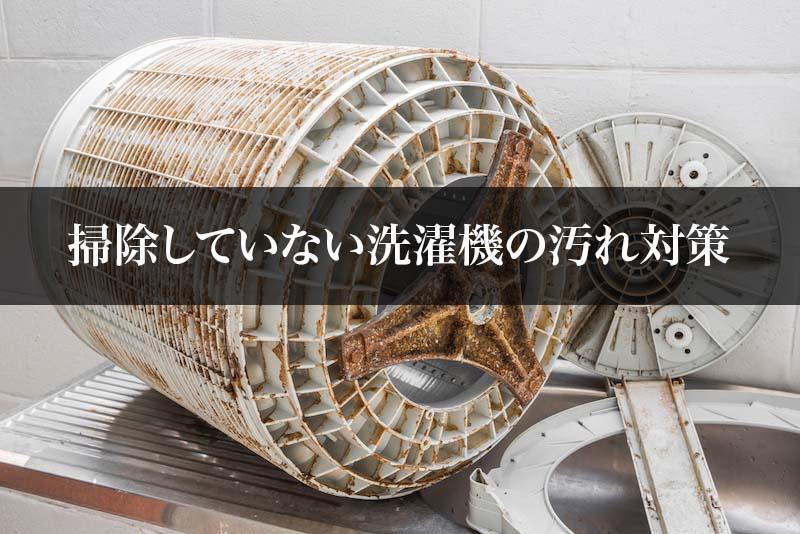 掃除していない洗濯機の汚れ対策