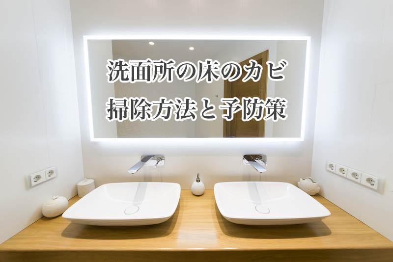 洗面所の床に生えたカビの掃除方法と予防策