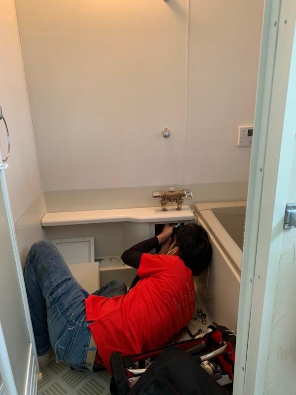 水栓金具の取り外し作業3