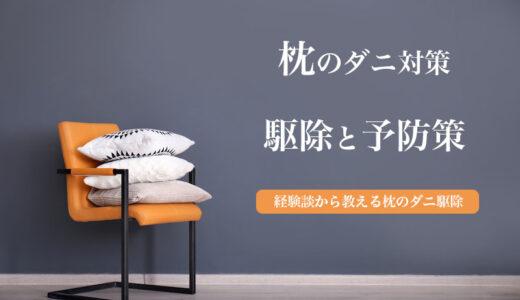 枕のダニ駆除〜退治後の予防法|子供がダニ刺されにあった体験から検証!